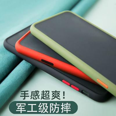小米10网红手机壳透明 Mi 10抖音情侣全包边防摔硅胶撞色磨砂壳潮