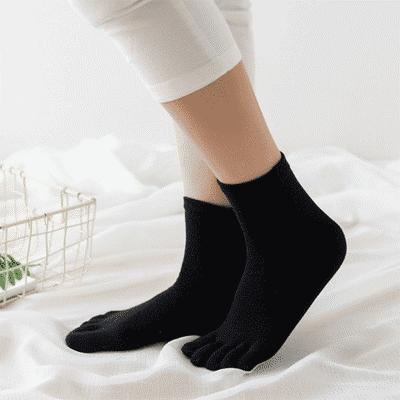 买6双送6双女士五指袜纯棉春夏中筒袜子袜子夏天女吸汗透气防脚气