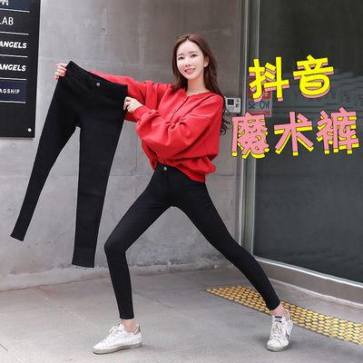 夏季黑色打底裤女外穿铅笔小脚高腰薄款九分显瘦韩版魔术裤子女