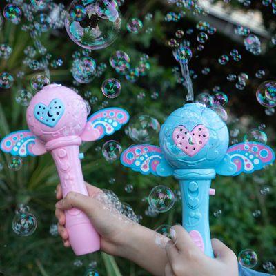 仙女棒泡泡机全自动电动吹泡泡少女心儿童泡泡棒魔法棒可充电玩具