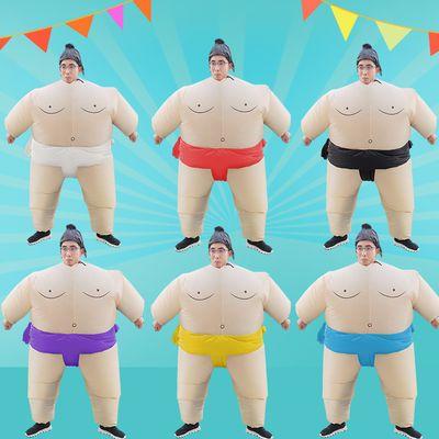 相扑充气衣服儿童成人舞台演出服装卡通人偶圣诞节服饰搞笑大胖子