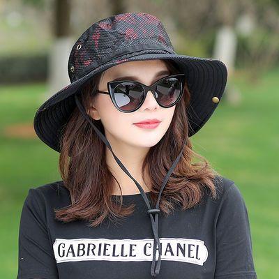 女士帽子可折叠遮阳帽户外爬山运动登山帽文艺潮人百搭夏天防晒帽