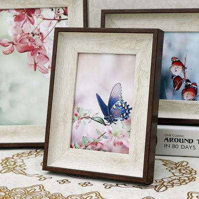 美式相框摆台5寸6寸7寸8寸10寸A4简约挂墙画框欧式婚纱照片相架