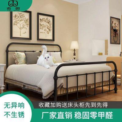 老匠铁艺床公主床1.8米双人床简约现代欧式网红铁架床1.5米单人床