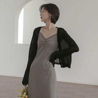 19118/防晒衣女冰丝针织开衫夏季新款薄款外套长袖外搭短款小披肩空调衫
