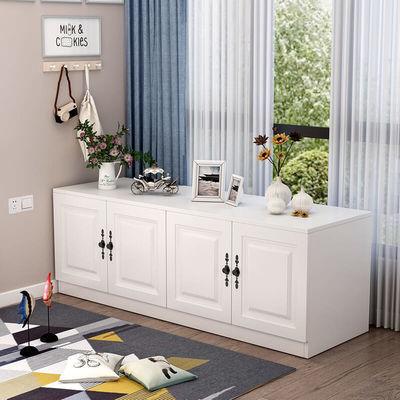 飘窗柜储物柜阳台窗台卧室收纳柜子可坐多功能组合矮柜落地柜定制