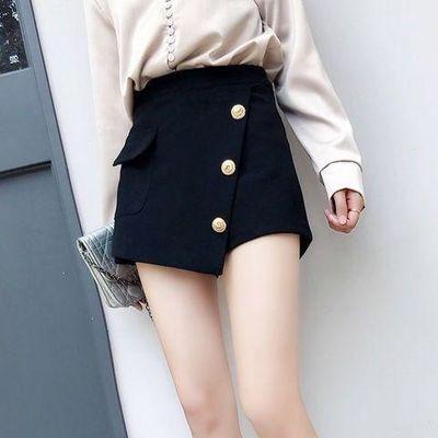 短裤女2020女夏新款韩版黑色高腰夏宽松显瘦外穿靴裙裤子阔腿裤裙
