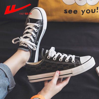 回力女鞋帆布鞋女黑色帆布鞋男2020新款爆改板鞋百搭韩版鞋子情侣