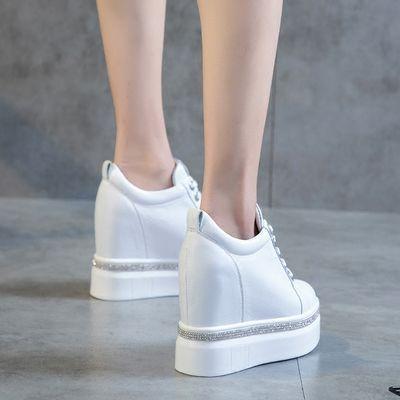 春季春季新款韩版休闲厚底鞋百搭经典超高跟内增高女鞋小白鞋12厘