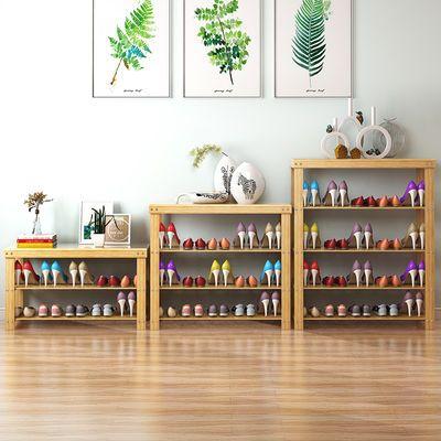 【可以坐人】鞋架楠竹换鞋凳子鞋柜欧式简易多功能玄关门口鞋架子