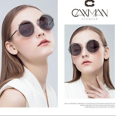 卡仕曼太阳镜女生小脸墨镜圆框时尚个性太阳镜司机镜复古潮CX3156