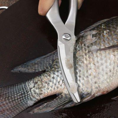 阳江厨房剪刀家用不锈钢鸡骨剪骨头强力多功能专用大烤肉剪子杀鱼