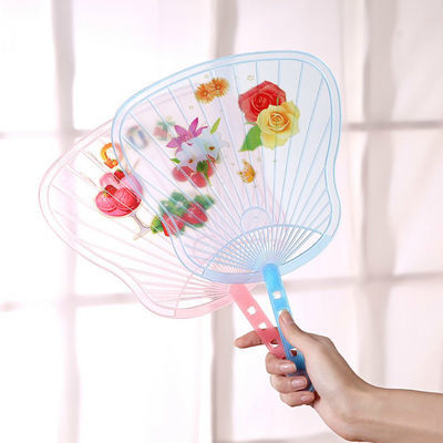 一对装烂了包赔卡通软塑料扇子圆形心形芭蕉扇子学生儿童驱蚊纳凉