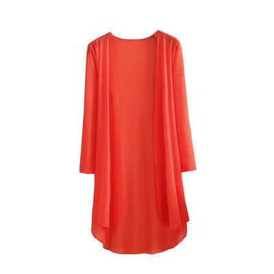 【精品网纱披肩】披风开衫女中长款季薄款防晒衣外搭冰丝外套长袖