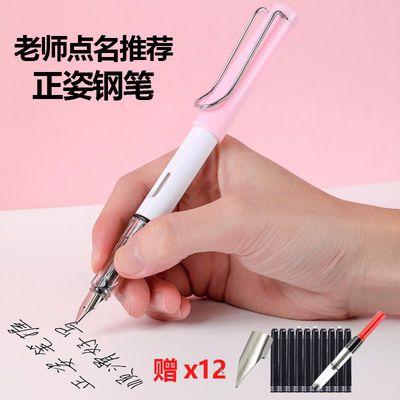 钢笔墨水正姿墨水笔中小学生男女士日常练字写作业0.38mm特细刚笔