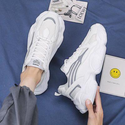 男鞋夏季2020新款小白板鞋韩版潮流百搭运动休闲秋季老爹ins潮鞋