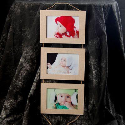 三组合儿童婚纱挂墙画框欧式简约组合相框影楼礼品相框画框包邮