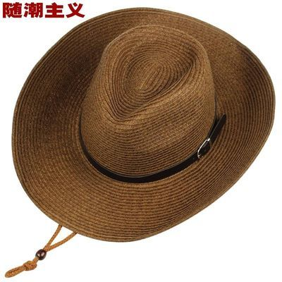 礼帽男大帽檐复古上海滩帽子新�O帽子表演帽黑色英伦爵士帽子男