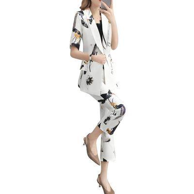 女神范裤子套装女2020夏装新款韩版时尚气质淑女西装休闲两件套女