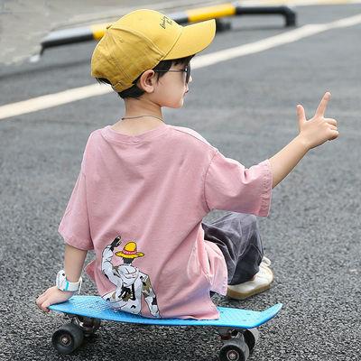 新品男童短袖t恤13岁12男孩夏装2020新款宝宝上衣服中大童儿童体