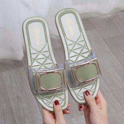 水晶韩版新款夏季时尚小孩女童中大童亲子软底防滑室内公主凉拖鞋