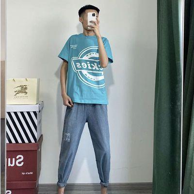 精神社会短袖男夏韩版宽松休闲快手网红同款潮牌上衣学生男女T恤