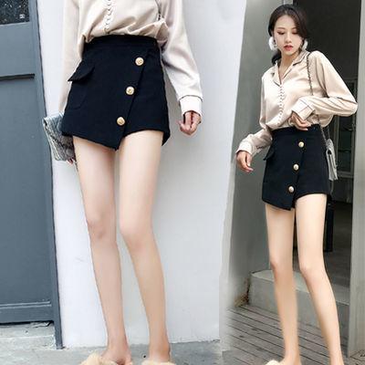 短裤女2020新款韩版黑色高腰春夏季阔腿裤裙宽松显瘦外穿靴裙裤子