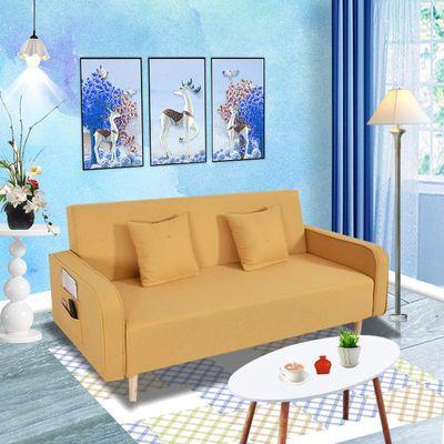 北欧客厅小户型沙发床两用出租房单双三人多功能折叠简约现代组合