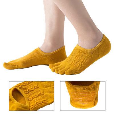 五指袜子女短袜浅口韩国可爱女士新款夏天薄款船袜女硅胶防滑隐形