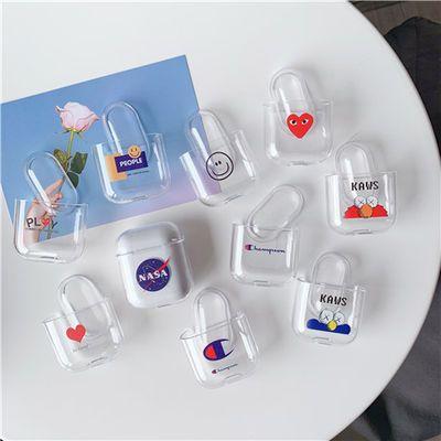 airPods2保护壳苹果无线蓝牙AirPods1/2代耳机套透明软壳pro潮牌