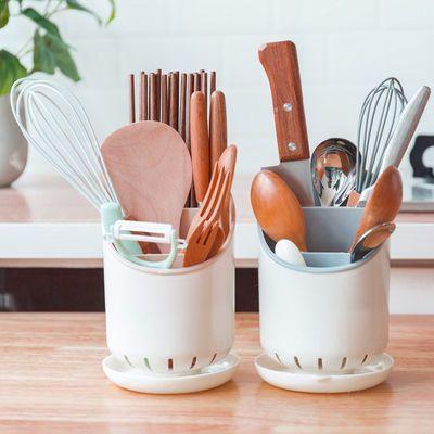 大容量筷子筒筷篓多功能筷子笼塑料沥水筷子盒厨房筷子勺子收纳盒