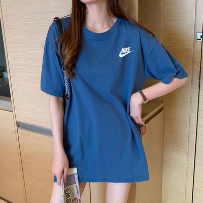 纯棉短袖T恤女学生韩版宽松潮牌2020夏季新款简约半截袖百搭上衣
