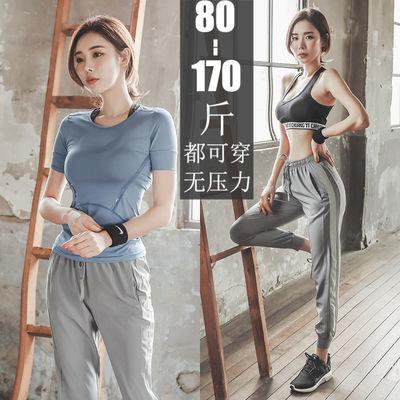 瑜伽服运动套装女夏秋季大码透气网红健身房跑步速干显瘦健身服