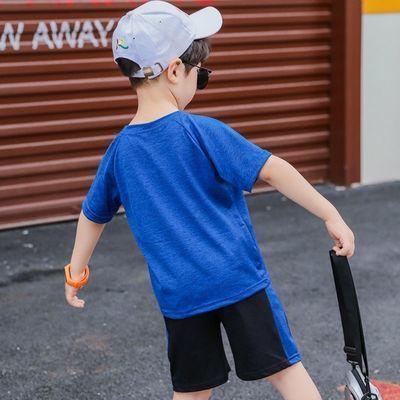 男童运动套装速干衣夏季2020新款中大童帅气时尚儿童洋气篮球服