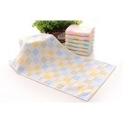 10条装薄款纯棉双层纱布小方巾口水巾吸汗巾手帕新生儿喂奶巾