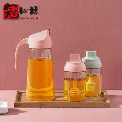 自动开合日式油壶装酱油醋油瓶抗摔防漏家用厨房油罐透明厨房用品