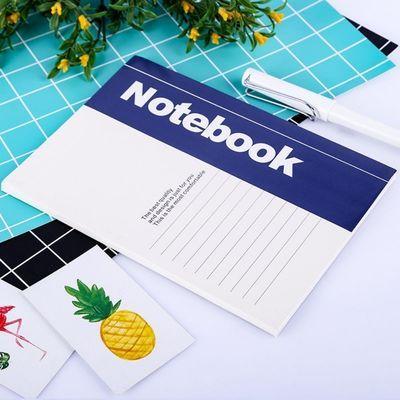 包邮A5办公纸面笔记本会议记录本32K软抄本学生日记本赠送中性笔