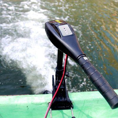 圣来汐电动马达 推进器船外机尾挂桨机 橡皮艇钓鱼船12伏螺旋桨