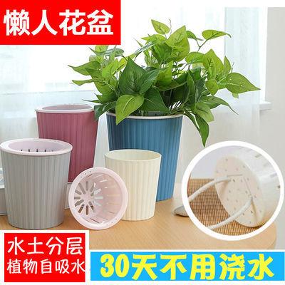 绿萝懒人免浇水自动吸水盆塑料盆栽花盆客厅花盆子水土分层防烂根
