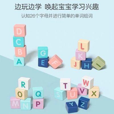 幼儿童积木木制拼装玩具益智力开发动脑1-3-6周岁木质拼装早教