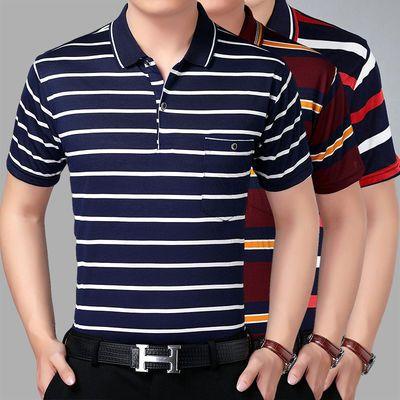 爸爸短袖t恤男夏40-50岁中年人夏天衣服中老年男装夏季半袖上衣