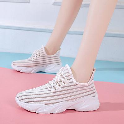夏新款老北京布鞋女鞋大学生小红鞋透气休闲鞋系带防滑户外运动鞋