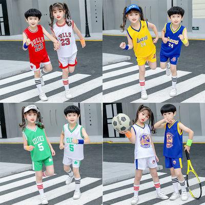 儿童套装两件套夏装童装男女童中小童1-3岁运动套球衣4宝宝篮球服