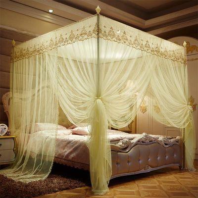 两米大床2+2.2三开门1.3/1.5/1.8/2米1.2m/1.35m米双人床蚊帐家用