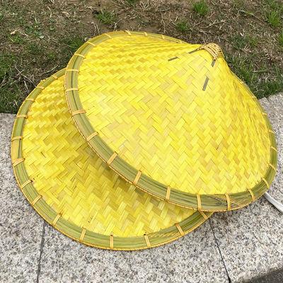 2020手工竹编超大号斗笠帽80厘米特大竹帽园林景观装饰防晒防雨帽