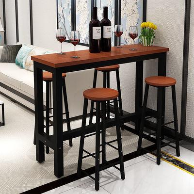 简约吧台桌家用餐桌靠墙小吧台桌客厅隔断奶茶店长条桌高脚桌吧台