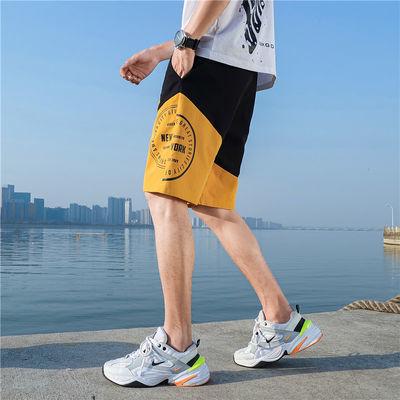短裤男夏季新款宽松直筒休闲裤中裤运动潮流五分裤外穿百搭沙滩裤