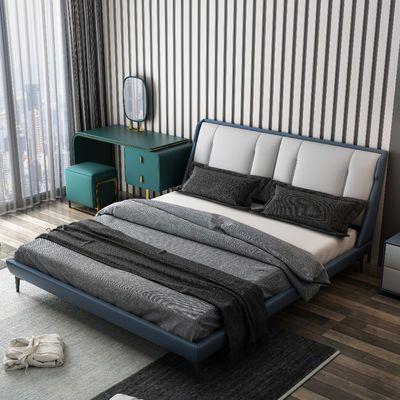 高档双人床成人主卧真皮床豪华双人床2020新款床现代简约轻奢床