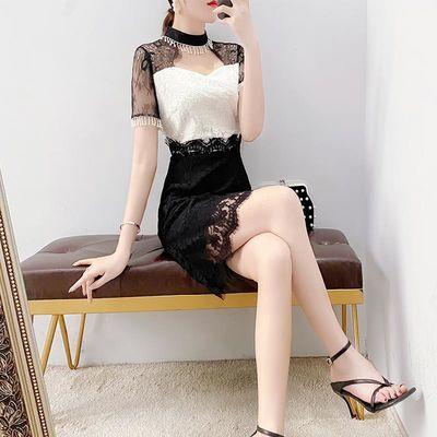 蕾丝连衣裙2020新款温柔风淑女裙子显瘦气质女神范衣服名媛小香风