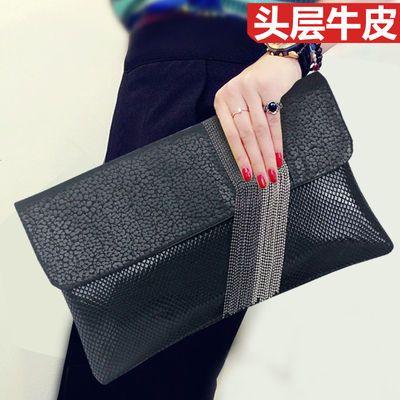 大容量软皮真皮手拿包女包2020新款潮时尚气质流苏手包斜挎小包包